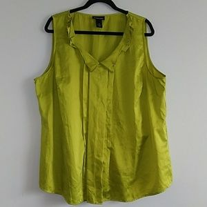 Lane Bryant Other - Lane Bryant Sleevelss Green Blouse Top size 28